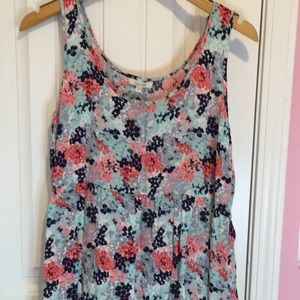 Delia's Floral Sundress with Ruffle Hemline